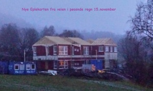 Nye Eplekarten fra veien i pøsende regn 15.november